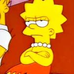 Lisa Crossed Arms Simpsons meme template blank Angry