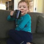 Gavin drinking coffee  meme template blank