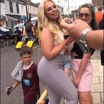 Kid looking at butt  meme template blank