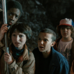 Stranger Things kids shocked / confused  meme template blank