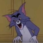 Tom Cat creepy face  meme template blank