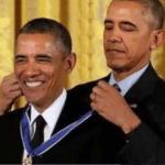 Obama giving medal to himself  meme template blank Politics