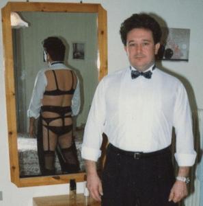 Man secretly wearing womens lingere NSFW meme template