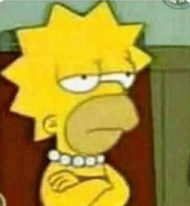 Lisa and Homer Crossed Arms Chimera meme template