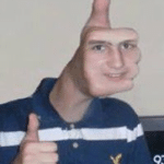 Thumbs up face  meme template blank