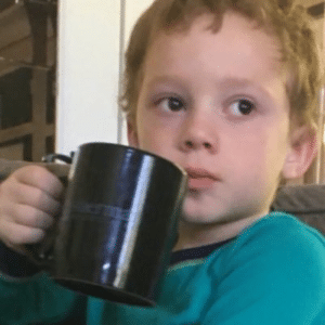Gavin drinking coffee, annoyed Gavin meme template