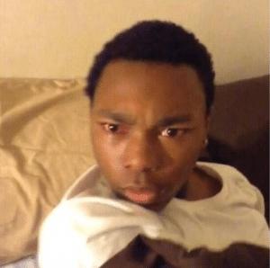 Black guy waking up, confused Black Twitter meme template