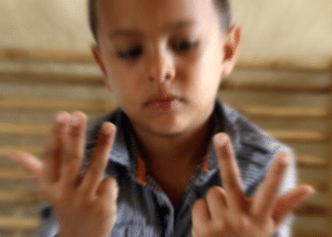 Counting on fingers Radial Blur meme template