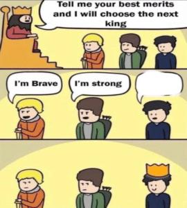 Choose the next king comic (blank template) Opinion meme template