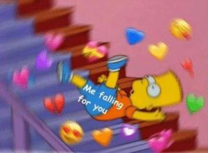 Bart falling for you Bart meme template