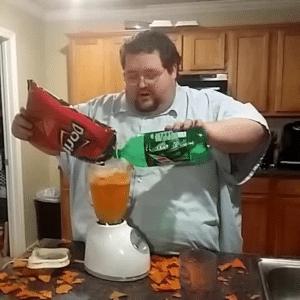 Combining Doritos and Mountain Dew YouTube meme template