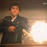 Scarface shooting  meme template blank