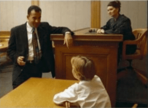 Lawyer asking kid a question Asking meme template