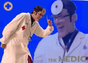 Robbie Rotten 'The Medic' Gaming meme template