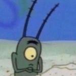 Plankton Surprised Spongebob meme template blank
