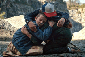 Stranger Things everyone hugging Hugging meme template