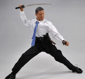 Obama with swords Sword meme template