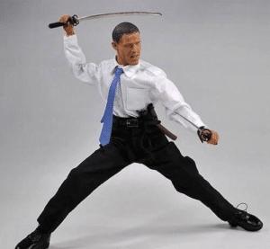Obama with swords Obama meme template