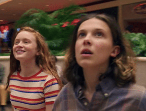 Showing Eleven the mall Stranger Things meme template