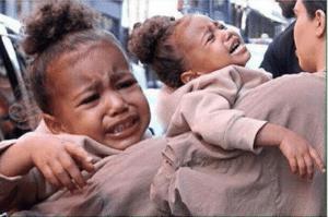 Holding crying baby Sad meme template
