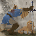 Link taking arrows for Zelda Nintendo meme template blank Gaming
