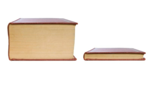 Thick book vs. thin book Book meme template