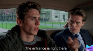 James Franco 'The exit is right there' Opinion meme template