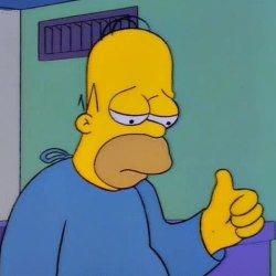 Homer sad thumbs up Sad meme template