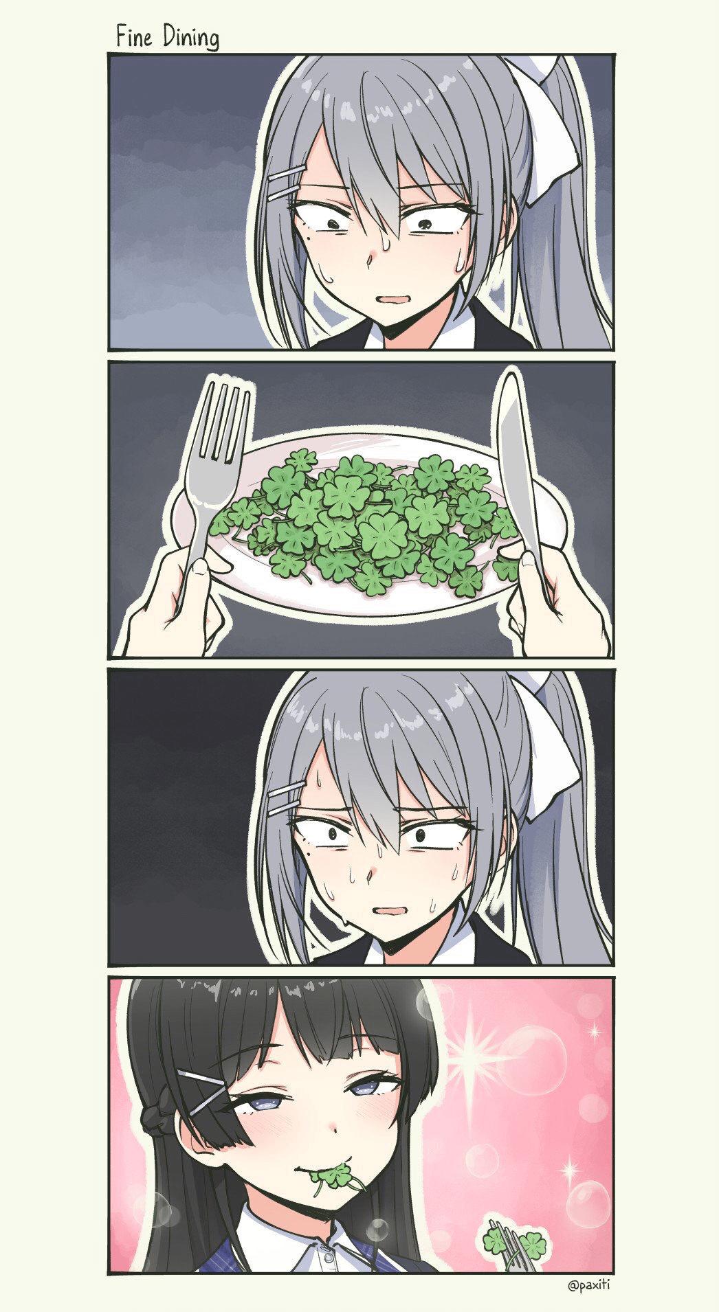 Meme Generator - Eating clovers (blank template) - Newfa Stuff