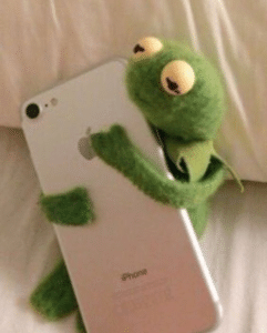 Kermit hugging phone Hugging meme template