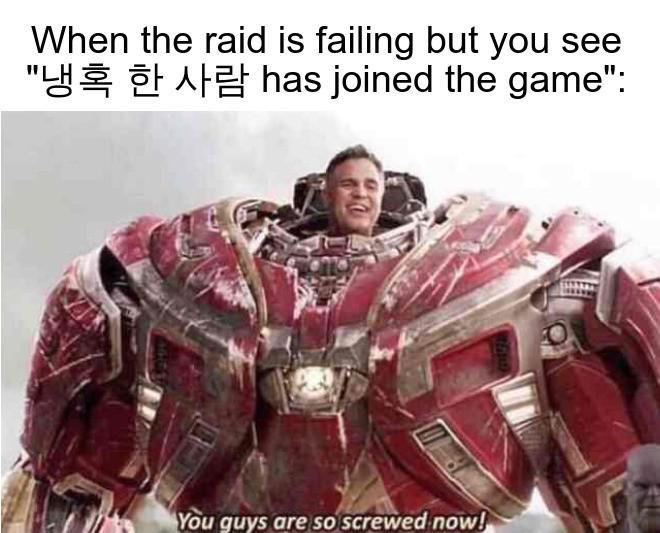 Dank Meme dank-memes cute text: When the raid is failing but you see
