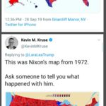 political-memes political text: Lara Trump @LaraLeaTrump ritoimpeaeh this. 12:36 PM 28 sep 19 from Briarcliff Manor, NY • Kevin M. Kruse @KevinMKruse Replying to@LaraLeaTrump This was Nixon