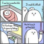 depression-memes depression text: was born sensilive blob. maje life Jifficul+. ow m r in o So I founJ ways el back. oi norem eei  depression