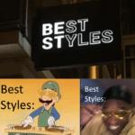 dank-memes cute text: Best Styles: BEST sTYLES Best Styles:  Dank Meme