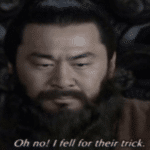 Oh no! I fell for their trick  meme template blank asian