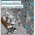 political-memes political text: Humans are HOOKED Machines are LEARNING NTELIGENCIA ARTIFICIAL  political