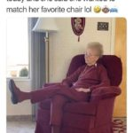 wholesome-memes cute text: i told my grandma she looked cute today and she said she wanted to match her favorite chair lol  cute