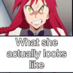 anime-memes anime text: Güend tdnls she Idke when sheOs What she boos  anime