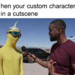 dank-memes cute text: When your custom character is in a cutscene  Dank Meme