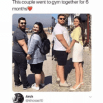 other-memes cute text: @ZnbJnnt This couple went to gym together for 6 monthse Arsh @khosaa10 Did the guy wait outside  cute