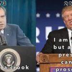 political-memes political text: I am not a—crook 2019 I am a crook but a sitting pre sid eunt—