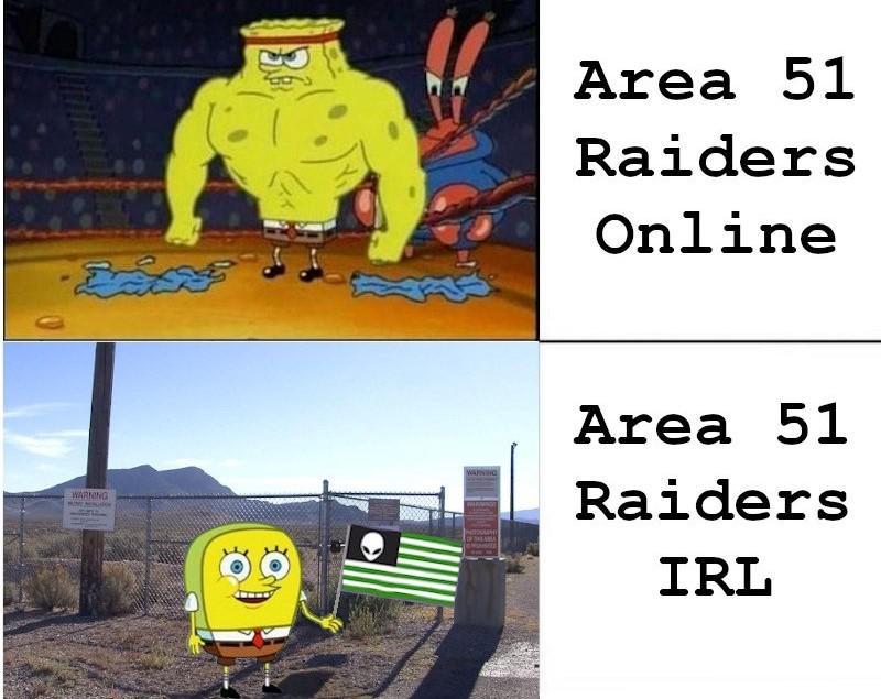 spongebob spongebob-memes spongebob text: -EEG* - Area 51 Raiders Online Area 51 Raiders IRI