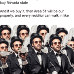 dank-memes cute text: If every Area 51 raider gives $50, then we can buy Nevada state And if we buy it, then Area 51 will be our property, and every redditor can walk in like  Dank Meme