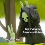 wholesome-memes cute text: Me trying be friends with him The new kid  cute