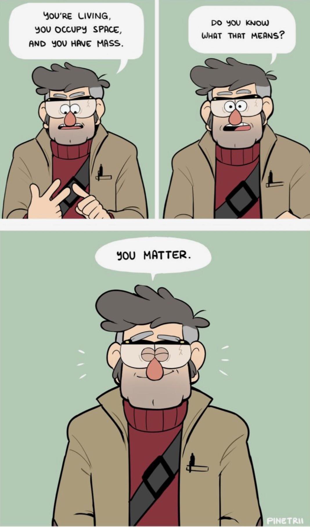 cute wholesome-memes cute text: BOl.J'RE l.-lVlNG, γου οαυΡΥ SPACE, γοι.) MASS. DO ΚΝ0ΙΟ ΙΙ.ΙΗΑΤ ΤΗΑΤ MEANS? γου ΜΑΤΤξ2. ΡΙΝξΤΚΙΙ