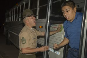 Man getting yelled at by sergeant Getting meme template