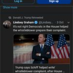 political-memes political text: A a 00:16 a mobile.twitter.com Q Search Twitter Log in S ow more Donald J. Trump Retweeted 000 Sign up @Lindsey... Lindsey Graham • 3 Oct v It