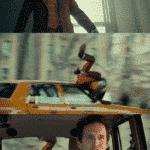 Joker getting hit but car but with a little more detail  meme template blank Joker, Little, Getting