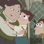 Doofenshmirtz's mum hugging his brother  meme template blank