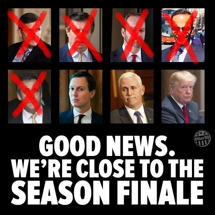 political political-memes political text: GOOD NEWS. WE'RE CLOSE TO THE SEASON FINALE
